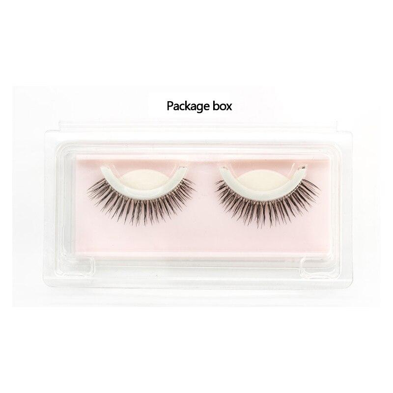 1pair Glue Free Eyelashes 3D Eyelashes, Artificial Fake Eyelashes Extension Woman Beauty Thick Lash Makeup Cosmetic