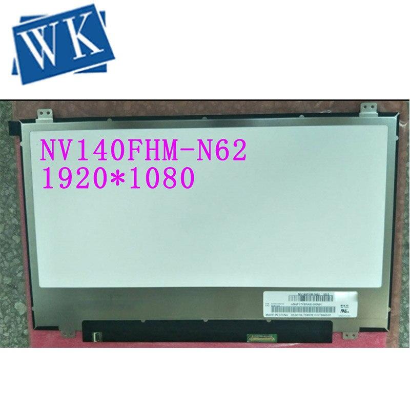 For BOE NV140FHM N62 V8.0 V80 NV140FHM N62 N140HCA EAC NV140FHM N3B LCD Screen for Laptop 14.0 FHD 1920X1080 30pin Matte