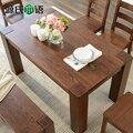 Чистого твердого дерева стул сочетание 4 специальный северо-Европейский белый дуб мебель шесть человек столовая мебель
