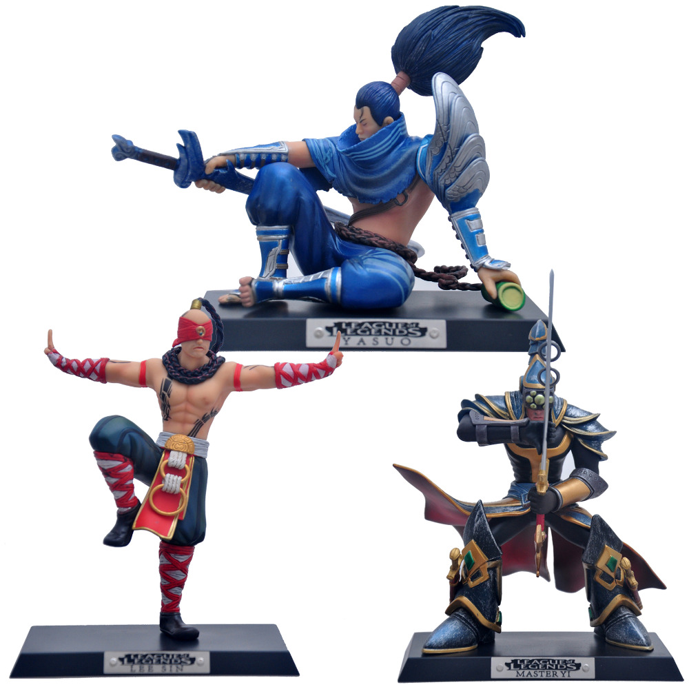 League of legends figurines Lee Sin, master YI, Yasuo(13-18