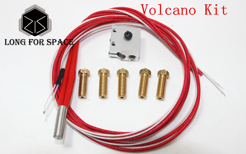 3D Printer Parts Pack kit/set Heater E3D Volcano Hot End Eruption Block+Nozzle  Prusa i3 Pack For 3D Printer Filament 1.75/3 mm