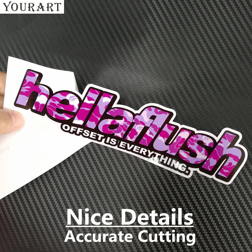 YOURART Car Styling Camouflage Vinyl JDM Sticker Car Stickers Decal Hellaflush Graffiti JDM Sticker Bomb para Toyota Honda Nissan