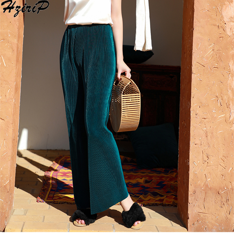 HziriP 2019 New Stylish Loose Comfortable Casual Simple Wild Warm Elastic Wide Leg Pants Women Female Solid Ladies 5 Colors