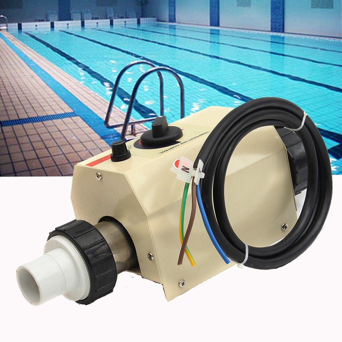 2KW 220 V piscine pompe à chaleur Sports nautiques piscine électrique et SPA bain chauffage baignoire chauffe-eau Thermostat