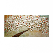 Hand painted oil painting High quality knife painted flower