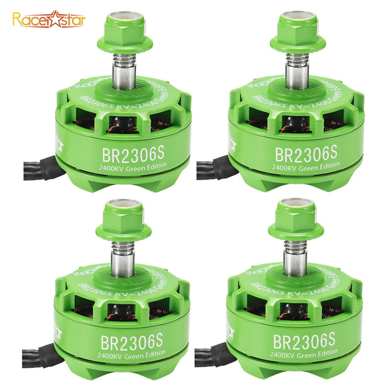 Racerstar 2306 BR2306S Green Edition 2400KV 2-4S Brushless Motor For X210 X220 250 300 Racing Frame RC Racing Drone Quadcopter ardin hc 2306