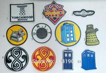 11 designs Mixed Lot Doctor Who DR WHO Tardis Eisen Auf Patch T shirt Bestickt Transfer Motiv APPLIQUE Rock Punk Abzeichen emo Goth