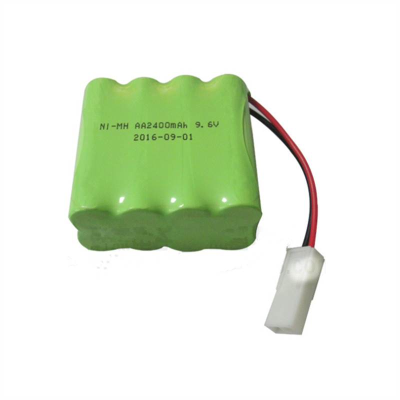 1 pcs 9.6v 2400mah ni-mh bateria rc battery 9.6v nimh battery 8x AA size ni mh pilas rechargeable 9.6v pack for rc car toy batte