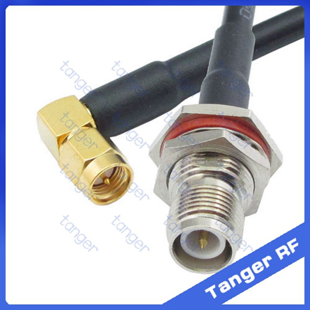 Tanger RP-TNC female connector to SMA male plug right angle RF RG58 Pigtail Jumper Coaxial Cable 20inch 50cm and High QualityTanger RP-TNC female connector to SMA male plug right angle RF RG58 Pigtail Jumper Coaxial Cable 20inch 50cm and High Quality