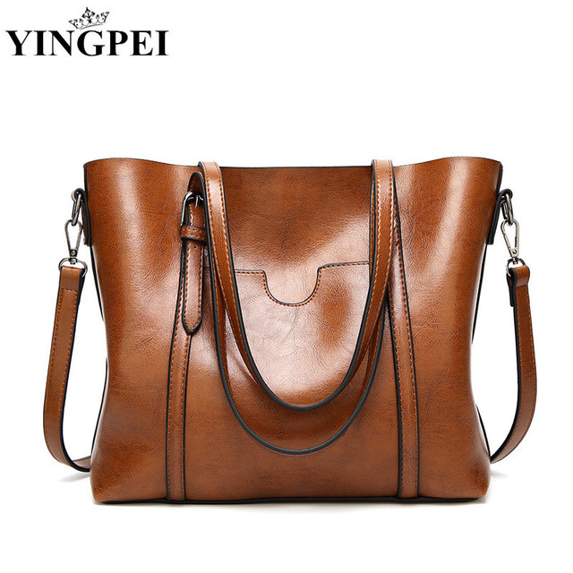 b2fafb095e YINGPEI Women Soft Leather Handbag High Quality Woman Shoulder Bag Luxury  Brand Tassel Bucket Bags Fashion bolsa feminina Gifts