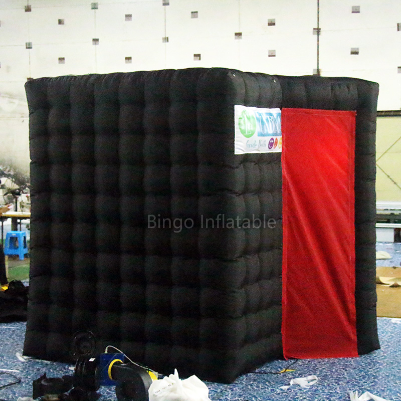 Sector black inflatable photo booth /photo kiosk booth/ photo booth enclosure for outdoor activities toy tent