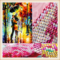 Diy Diamond Painting An Umbrella Of Men And Women Embroidery Diamond Cross Stitch Crystal Round Diamond