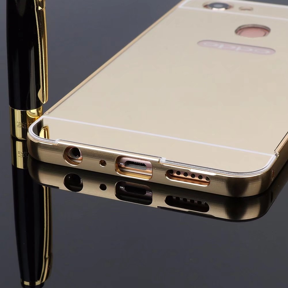 Metal Bumper Plastic Case For Oppo A71 Push Pull Removable Mirror Hard Back  Cover For Oppo F7 B003-in Phone Bumper from Cellphones &