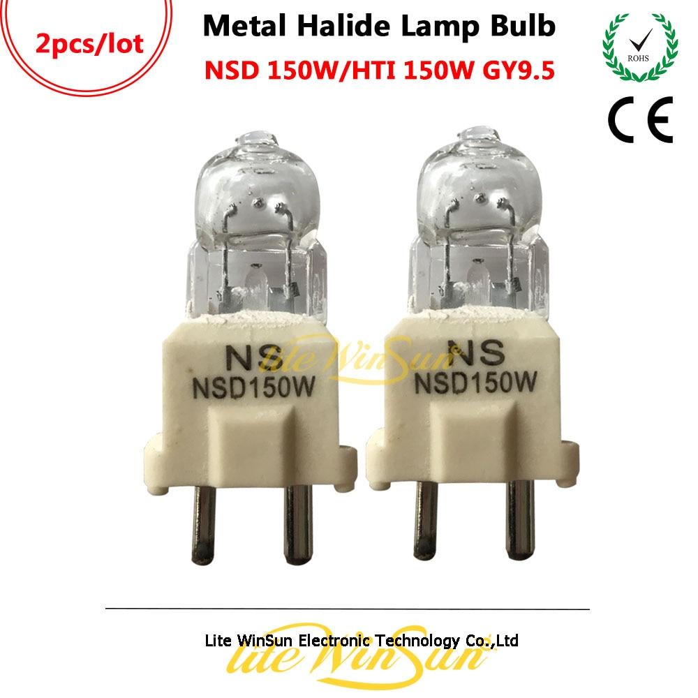 Litewinsune NEW Freeship HTI 150W NSD 150W GY9.5 Base Metal Halide Lamp Stage Lighting Source