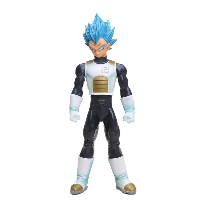 In Symbol Of The Brand 24cm Dragon Ball Z Blue Hair Vegeta Master Stars Piece Figures Super Saiyan God Ss Vegeta Pvc Action Figure Toys Superior Quality