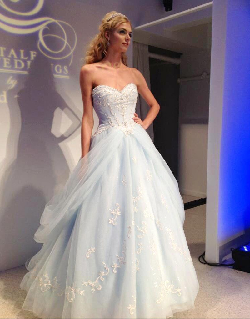 Popular Light Blue Wedding Gown-Buy Cheap Light Blue Wedding Gown ...