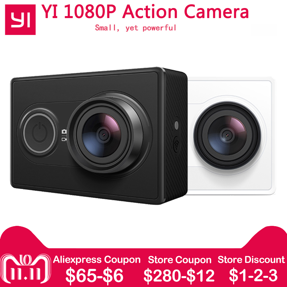 цена на [International Edition]Xiaomi YI Action Camera WiFi BT4.0 16MP 3D Noise Reduction 60FPS Ambarella A7LS Sports Mini Camera