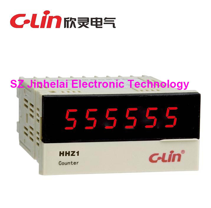 C-Lin HHZ1 New and original Digital display count relay,Tachometer,Pulse signal input AC220V motorcycle parts black deep cut finned derby timing timer cover for harley davidson sportster xl883 xl1200