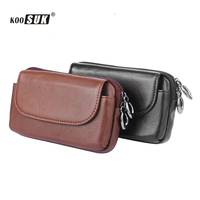 KOOSUK Genuine Leather Men S Waist Packs Casual Waist Pack Waist Bag Wallet Mobile Phone Pouch