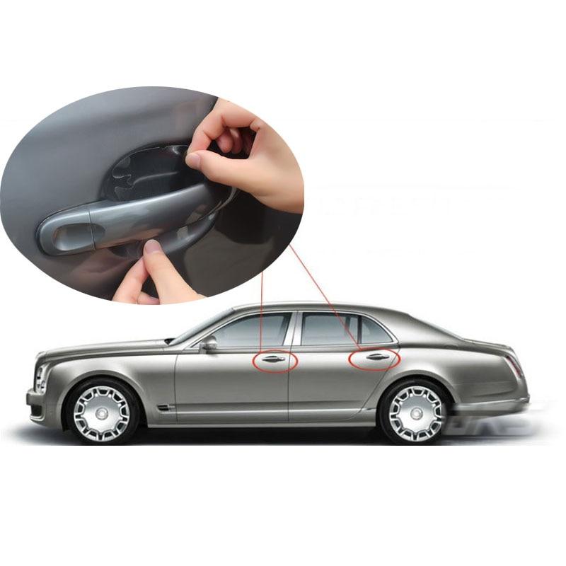 8pcs Car Door Handle Bowl Protection Film Sticker Auto Door Bowl Prevent Scratch Vinyl Protective Film   - title=