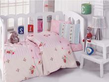 Комплект постельного белья детский cottonbox, розовый, с цветами