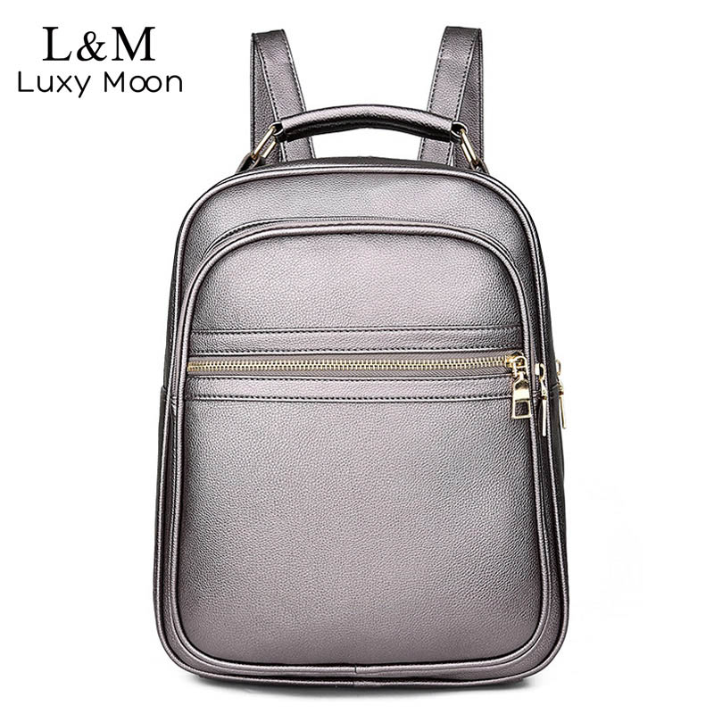 Vintage Women Backpacks Travel Female Fashion Rucksack Student School Bag Backpack Daypack Leather Elegant Shoulder Bags XA426H