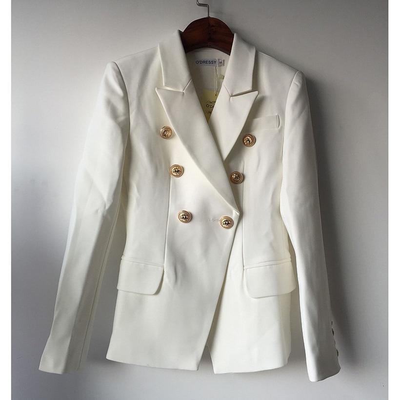 Women's Clothing ... Blazer & Suits ... 32794996954 ... 3 ... TOP QUALITY New Fashion 2020 Designer Blazer Jacket Women's Double Breasted Metal Lion Buttons Blazer Outer size S-XXXL ...