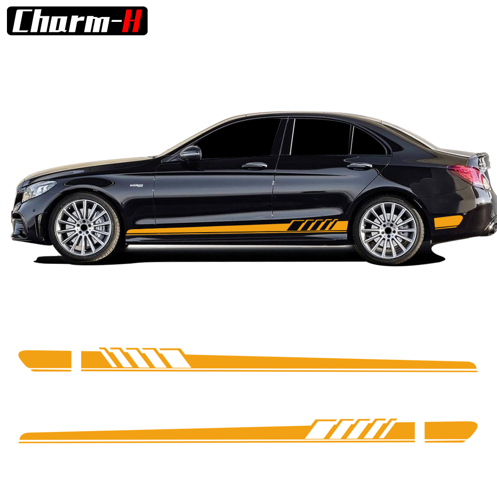 Edition 1 Side Stripe Decal Sticker for Mercedes Benz W205 C180 C200 C63 AMG Կիսապաշտպանիչ մարմին Body Garland