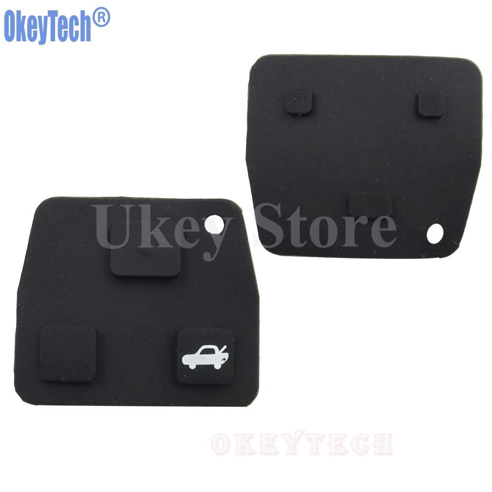 5pcs 3 Buttons Remote Key Rubber Pad For Toyota Avensis Corolla Lexus Rav4 ! //