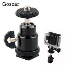 Gosear Rotatiing חמה נעל כדור ראש סוגר מתאם בורג מהדק מחזיק עבור Gopro Go Pro Hero 5 4 3 2 xiaomi יי 2 4 K 4 K SJ4000