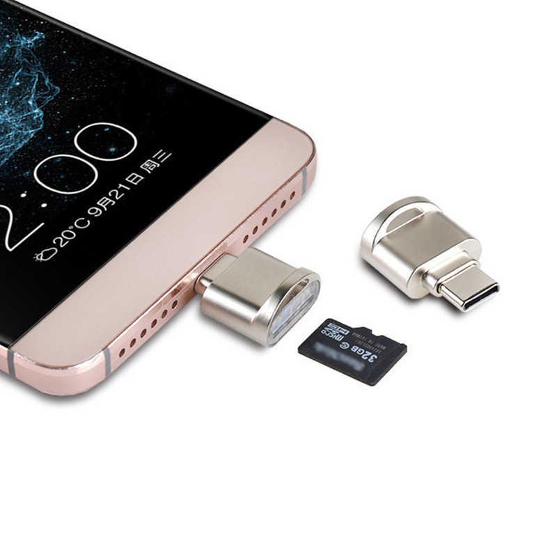 Powstro typu C Micro SD TF Mini czytnik kart pamięci USB 3.1 OTG Adapter uniwersalny przenośny czytnik kart