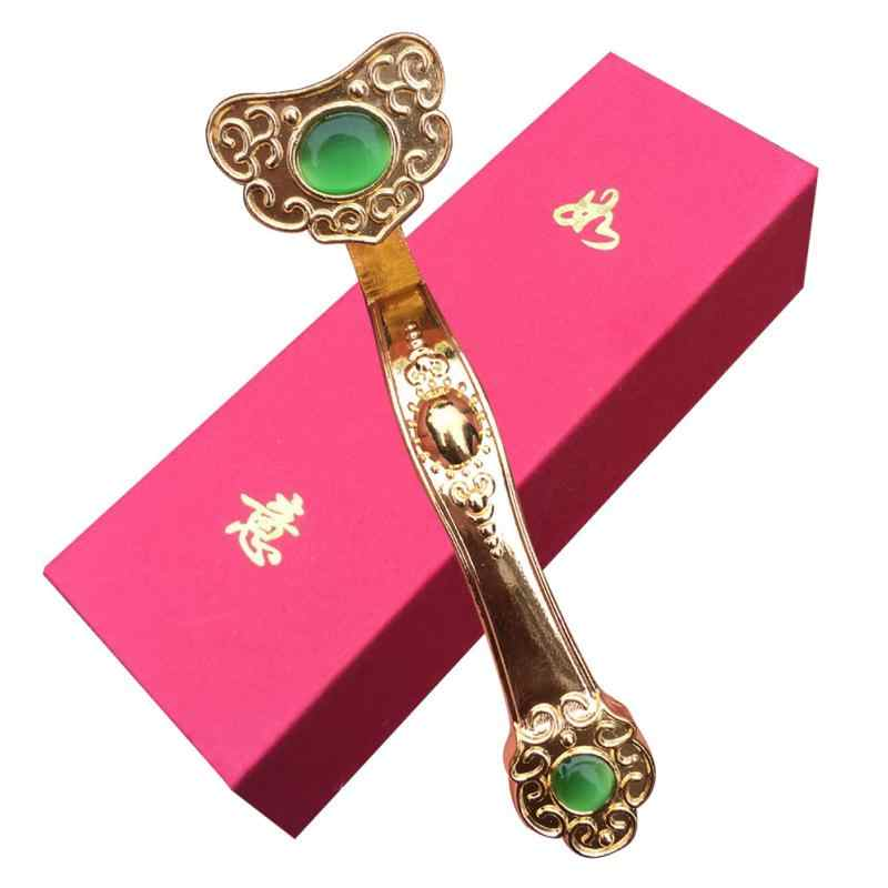 Jewelry Chinese Craft Desk Golden Ruyi Wealth Feng Shui Fortune Gift Ornament Ruyi ornaments