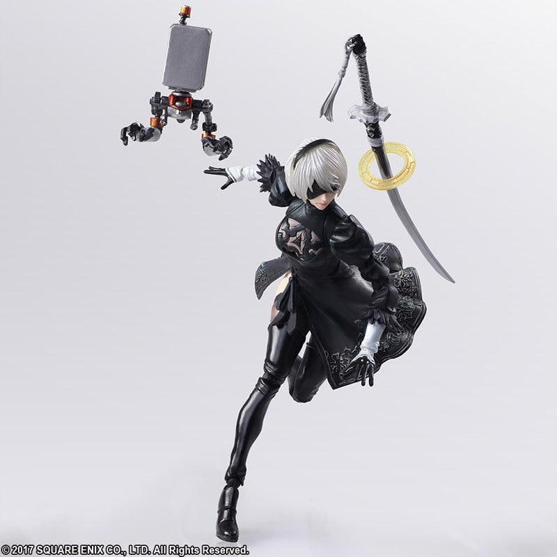 Game Nier: Automata Action Figure – YoRHa No. 2 Type B 2B  | 14cm