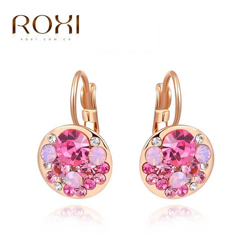 9217236ac ROXI Wedding Stud Earrings Big Stone Zircon Rose Gold Earring for Women  Female Earrings Boucle D