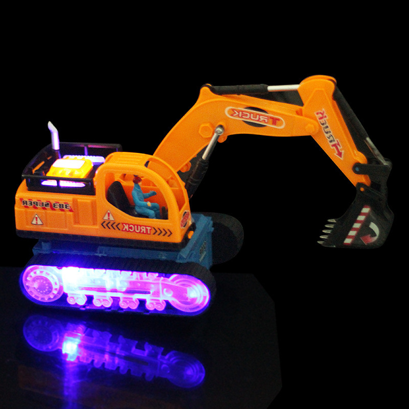 Music Lighting Baby Toys Large Remote Control Engineering Truck Excavator Car Boy Toys Car Electric Bulldozer Kids Toy Gifts