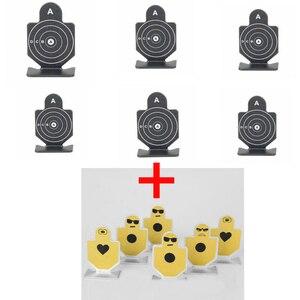 Image 3 - 12 teile/satz Metall Pistole Pistole Schießen Praxis Ziel Taktische Airsoft Jagd Schießen Ziel Ziel Set