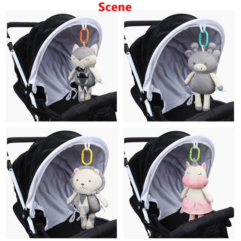 Hot 30 cm Wollen Baby Rammelaars Speelgoed BB Apparaat Knuffel Pluche Pop Baby Wieg Speelgoed Vos Speelgoed voor Wandelwagen rustgevende Poppen LB09 2