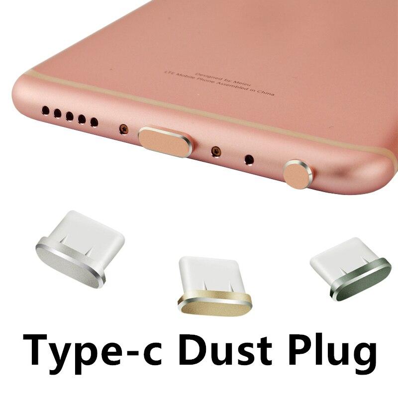 Aluminium Alloy Type C Anti Dust Plug Type C Mobile Phone