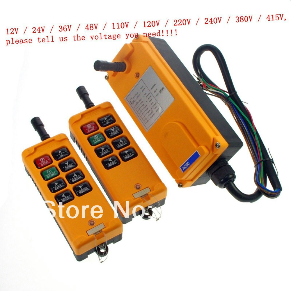 8 Channels 2 Transmitters 1 Speed Control Hoist Crane Radio Remote Control System