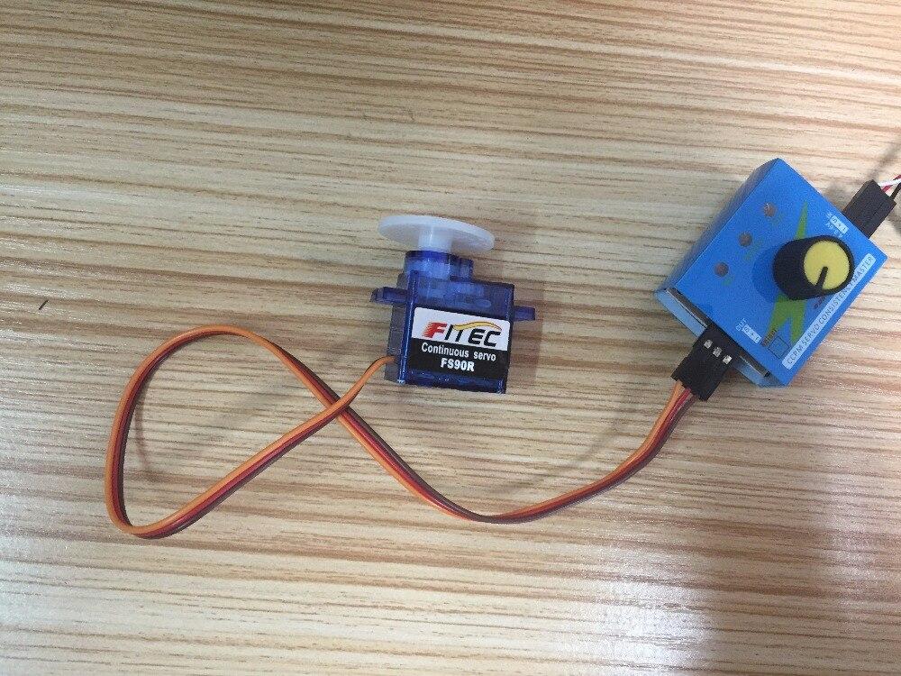 Feetech FS90R Micro Servo, 360 Degree Continuous Rotation Mini RC Servo  Motor / Wheel / ESC Servo Tester RCmall FZ0101-01