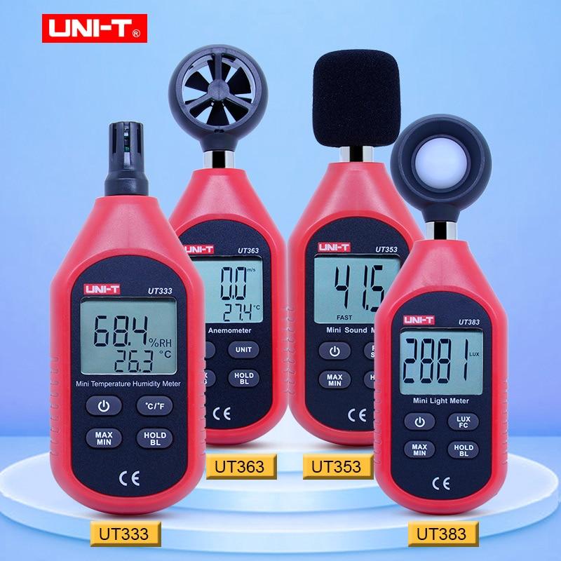 UNI-T мини-светильник метр Цифровой Люксметр UT333 UT353 UT363 UT383 цифровым термометром и гигрометром декоративные часы для измеритель уровня звука А...