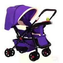 European strollers Baby STROLLER SLEEPING NEWBORN lightweight compact trolley 3 in PRAM Poussette Buggy High Landscape