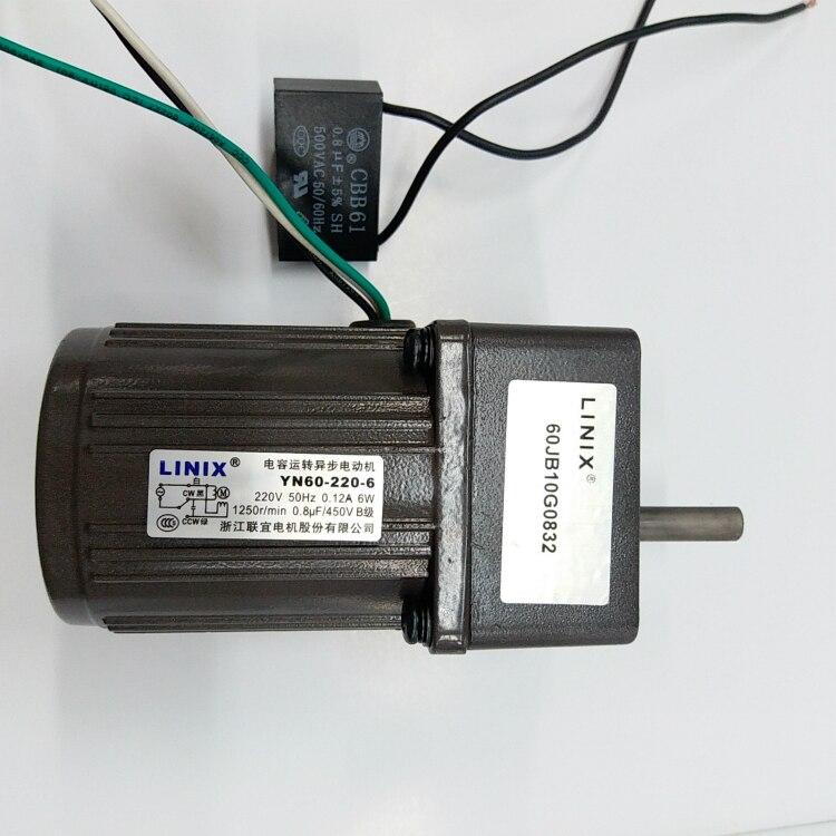 3 lignes vitesse constante décélération moteur à courant continu moteur LINIX moteur à engrenages à courant continu YN60-220-6 nouveau yn60-6 d'origine ex: 60jb10g08 60jb5G08