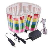 Car Styling 70cm*16cm Car LED Sound Music Sticker Activated Equalizer Music Rhythm Led Colourful Flash EL Sheet Light Lamp New