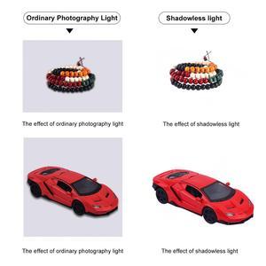 Image 5 - PULUZ Luz LED Mini 22,5 para fotografía, sin sombras, cojín de Panel + 2 paneles LED, caja de luz de 20CM para tienda de estudio fotográfico