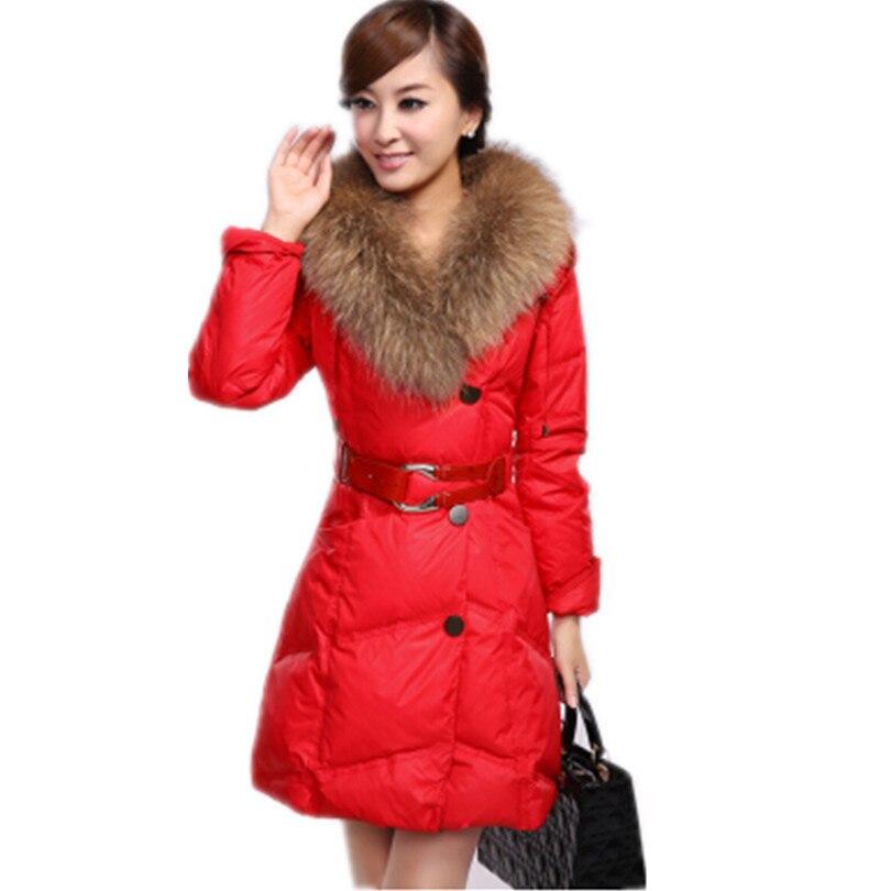 2016 Sıcak Satış yeni kış kadın kalınlaşmak aşağı coat sıcak uzun kürk ince aşağı pamuk parka ceket kadınlar aşağı ceket H8Y8