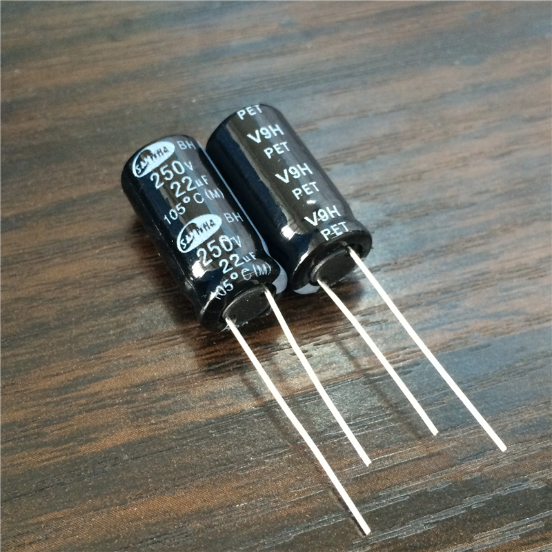5pcs 22uF 250V SAMWHA BH Series 10x20mm 250V22uF High Ripple Current Long Life Aluminum Electrolytic Capacitor