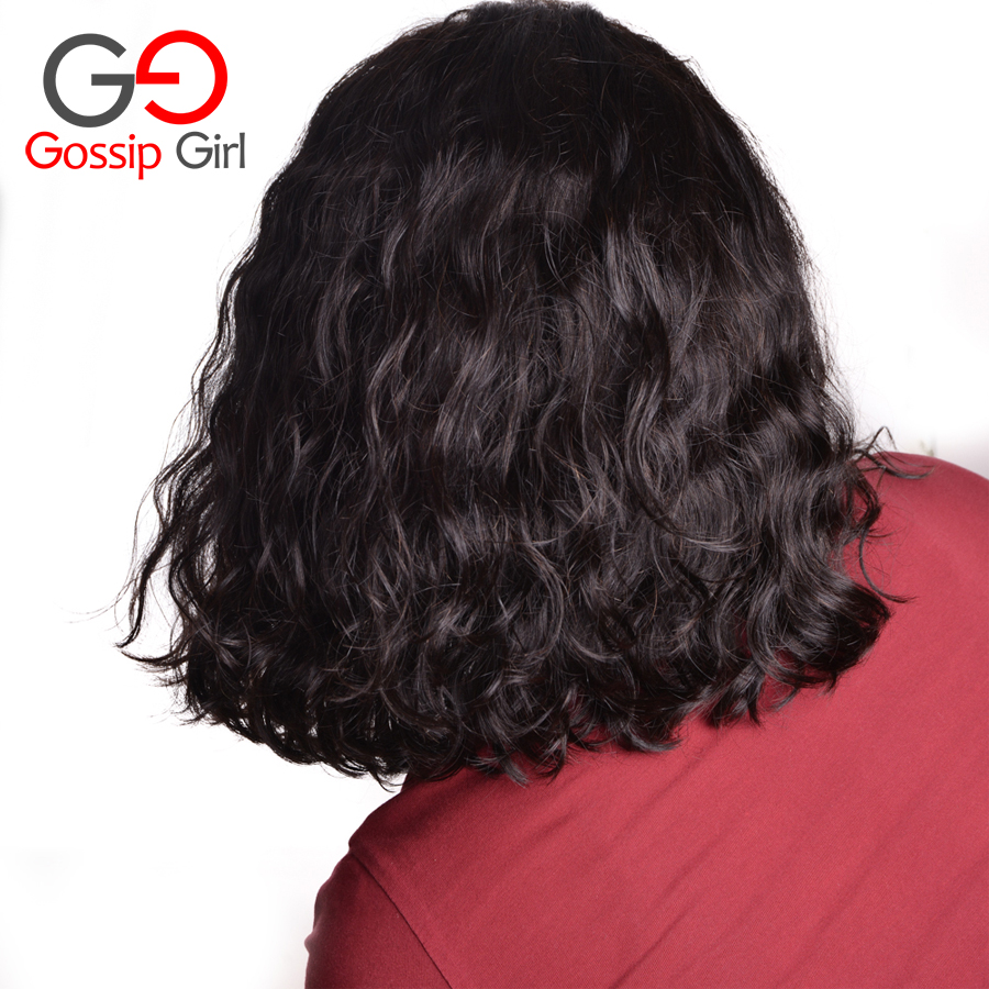 Aliexpress com buy gossip girl 7a malaysian lace front wigs natural wave full lace human hair wigs for black women short curly bob lace front wigs from