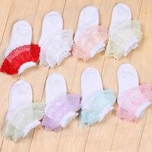 10 пар милые девочки кружевными рюшами Хлопковые короткие носки дети цветок Балетные носки шланг Детский костюм для вечеринок танцевальная одежда