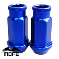 Mofe 20pcs/set 50mm D1 Universal JDM Racing Wheel Lug Nuts M12*1.5 (P:1.5 L:50MM) Blue
